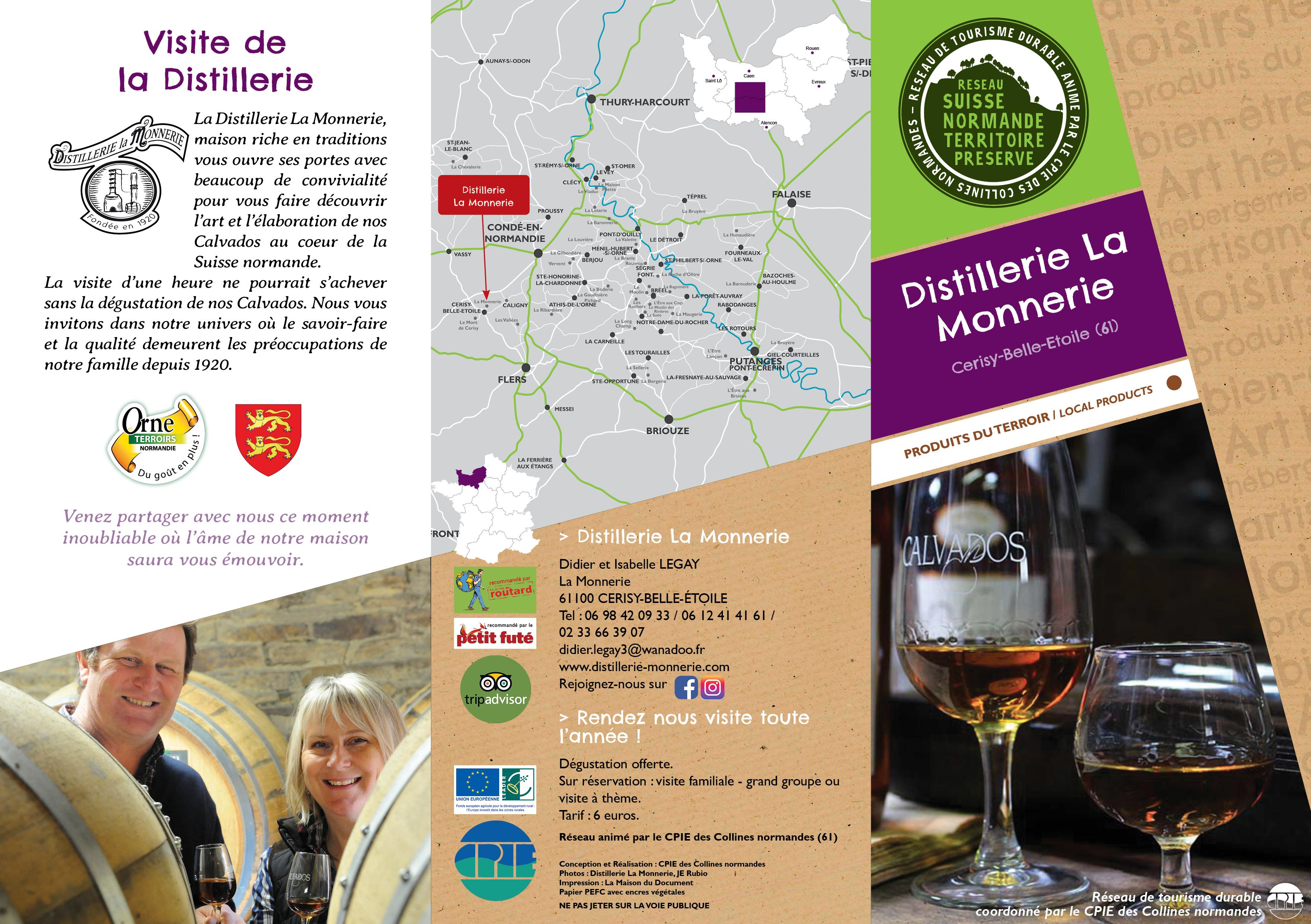 La nouvelle plaquette de la Distillerie La Monnerie